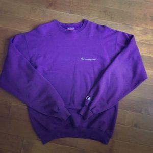 Champion Adult Medium Purple Fleece Sweatshirt